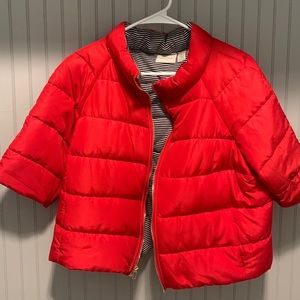 Chico Red cropped puffer jacket